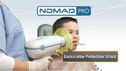 NOMAD Pro System has so little radiation that the assistant does not have to leave the room, like with normal X-rays.